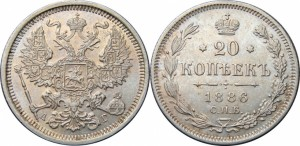 20 копеек 1886 года