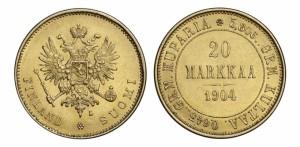 20 марок 1904 года - Золото