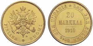 20 марок 1910 года - Золото