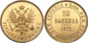 20 марок 1912 года - Золото