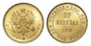 20 марок 1913 года - Золото