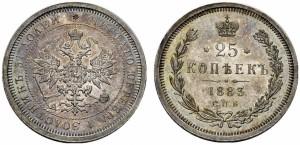 25 копеек 1883 года