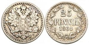 25 пенни 1868 года
