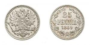 25 пенни 1869 года