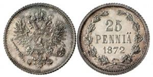 25 пенни 1872 года