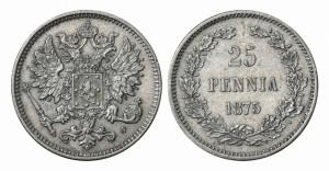 25 пенни 1875 года - Серебро