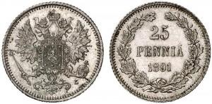 25 пенни 1891 года - Серебро