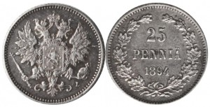 25 пенни 1894 года - Серебро