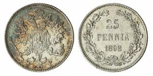 25 пенни 1898 года - Серебро