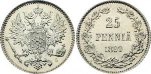 25 пенни 1899 года - Серебро