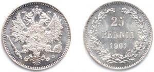 25 пенни 1901 года - Серебро