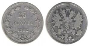 25 пенни 1902 года - Серебро