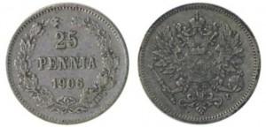 25 пенни 1906 года - Серебро