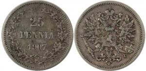 25 пенни 1907 года
