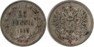 25 пенни 1908 года