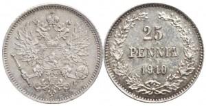 25 пенни 1910 года