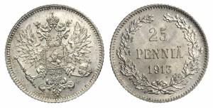 25 пенни 1913 года - Серебро