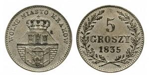5 грошей 1835 года