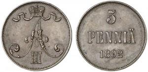 5 пенни 1892 года