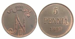 5 пенни 1897 года