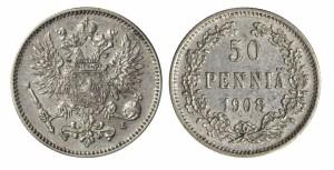 50 пенни 1908 года