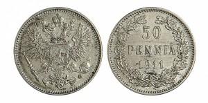 50 пенни 1911 года