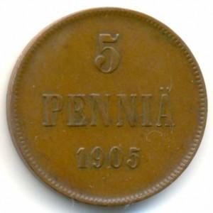 5 пенни 1905 года