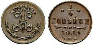 1/4 копейки 1900 года