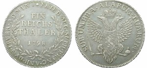 Ein reichsthaler 1798 года