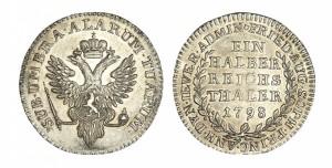 Ein halber reichsthaler 1798 года - КНЯЖЕСТВО ЙЕВЕР. Серебро